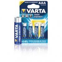 Alkalická Baterie AAA 1.5 V High Energy 4-Blistr