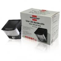 Solární Nástěnné Svítidlo 2 LED Černá