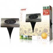 Solární Reflektor 2 LED Čtverec