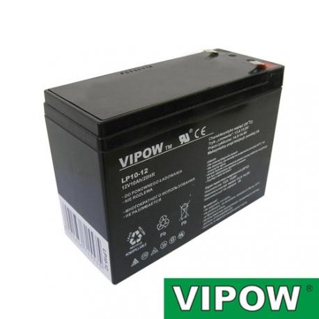 Baterie olověná  12V/10Ah  VIPOW bezúdržbový akumulátor