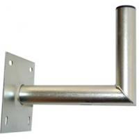 Držák antény 25cm s plotnou 16x16, trubka 42/2mm, zinek Galva
