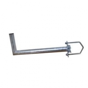 Držák antény 50cm, s vinklem (na balkón 25-89mm), trubka 42/2mm, zinek Žár