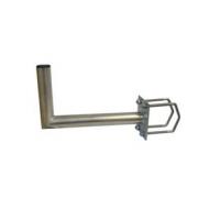Držák antény 35cm s plotnou, (na stožár i balkón 35-90mm), trubka 42/2mm, zinek Galva