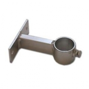 Držák stožáru 48mm, 10cm od zdi (krátký pás), zinek Galva