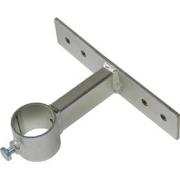 Držák stožáru 48mm, 10cm od zdi (delší pás), zinek Žár