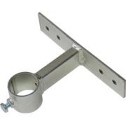 Držák stožáru 60mm, 10cm od zdi (delší pás), zinek Galva