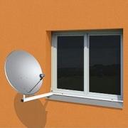 OEM Unihold konzola pro parabolu na plastové okno 50cm (bez vrtání!)