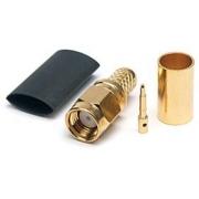 Konektor SMA male crimp zlatý H155, Tri-Lan 240