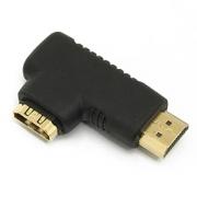 HDMI adaptér 19pin Female - 19pin Male do úhlu 90° pravá PremiumCord