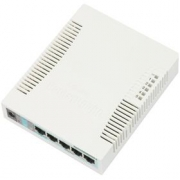 MikroTik RouterBOARD RB260GS, 5-port Gigabit smart switch with SFP cage, SwOS, plastic case, PSU
