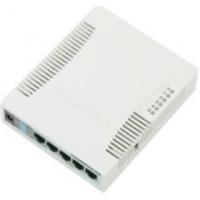 MikroTik RouterBOARD RB951Ui-2HnD, 600Mhz, 128MB RAM, 5xLAN, 2.4Ghz 802.11n, L4, case, PSU