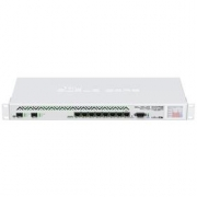 MikroTik Cloud Core Router, CCR1036-8G-2S+EM, 8x GB LAN,16GB RAM, 2xSFP+ cage, Level6, RM 1U, PSU, LCD