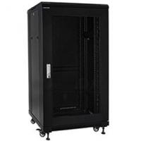 "19"" Rack skříň S6627DP (27U 600x600mm, pojízdná,matná, perforované dveře)"