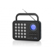 Rádio FM / USB / MICRO SD NEDIS RDFM1310GY BLACK / GREY