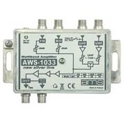 Anténní zesilovač AWS-1033 (BI-FM/BIII/2xUHF/33dB)