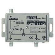 Anténní zesilovač AWS-1142 (47-862MHz, 19dB, 2x výstup)