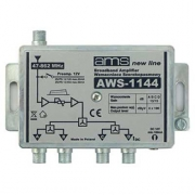 Anténní zesilovač AWS-1144 (47-862MHz, 14dB, 4x výstup)