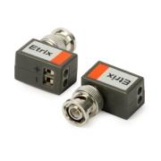 Obrazový vysílač/přijímač 1VP-B - úhlový (pro TVI,CVI,AHD, Analog, 2ks)