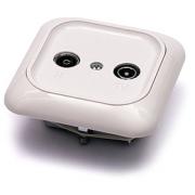 TV/R zásuvka průběžná GAP-10-BG-DK - 10 dB