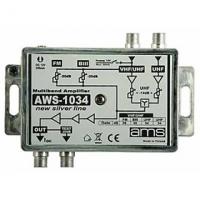 Anténní zesilovač AWS-1034 (BI-FM-BIII-UHF/UHF/33dB)