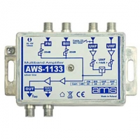 Anténní zesilovač AWS-1133 (FM/BIII/UHF/UHF 14dB)