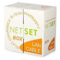 Kabel UTP Cat5e PE gelový černý NETSET (venkovní) [305m]