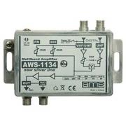 Anténní zesilovač AWS-1134 (FM-BIII-VHF-UHF/UHF 26dB)