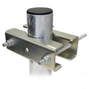 Třmen 2 x C140/M12 pro stožár od 40mm do 140 mm, zinek Galva