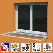 Okenní sušák prádla pevný s předzahrádkou ( 2v1 )