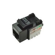Keystone zařezávací Solarix CAT5E UTP RJ45 svorkovnice 90° černý s vyvazováním SXKJ-5E-UTP-BK-D