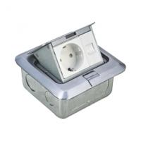 Zásuvka podlahová UTP CAT5E (1xRJ45 +1x230V) DATACOM