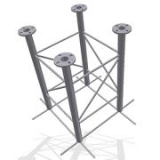 Příhradový stožár čtyřboký 48-550-1000 do betonu - žár