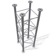 Příhradový stožár čtyřboký 48-550-2000 - žár
