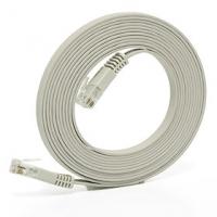 Solarix patch kabel plochý CAT5E UTP LSOH 3m šedý non-snag-proof C5E-111GY-3MB