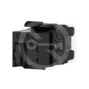 Solarix rychlozařezávací keystone  CAT6 UTP RJ45 černý SXKJ-6-UTP-BK-NA pro kleště  SXKJ-NA-BU