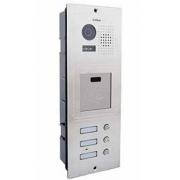 Barevná dveřní kamerová jednotka S603A s 3 tlačítky a čtečkou karet