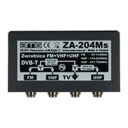 Venkovní TV/FM slučovač ZA-204Ms (FM / 6-12 / 21-60, F-konektory)