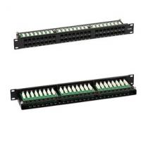 Patch Panel (1U, 48 CAT6 RJ45 portů + úchyt na kabely)
