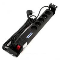 """19"""" rozvodný panel ACAR 5x230V 1,5U 3m kabel černý"""